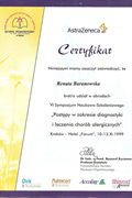 Renata Baranowska - certificates in allergology - polish doctors in Dublin - #10