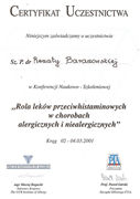 Renata Baranowska - certificates in allergology - polish doctors in Dublin - #13