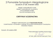 Renata Baranowska - certificates in allergology - polish doctors in Dublin - #14