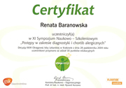 Renata Baranowska - certificates in allergology - polish doctors in Dublin - #20