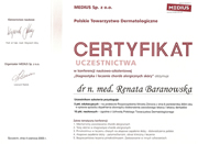 Renata Baranowska - certificates in allergology - polish doctors in Dublin - #23
