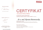 Renata Baranowska - certificates in allergology - polish doctors in Dublin - #26