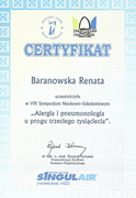 Renata Baranowska - certificates in allergology - polish doctors in Dublin - #27