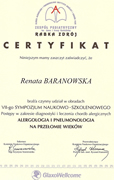 Renata Baranowska - certificates in allergology - polish doctors in Dublin - #28