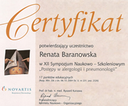Renata Baranowska - certificates in allergology - polish doctors in Dublin - #30