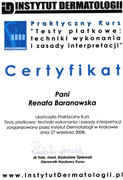 Renata Baranowska - certificates in allergology - polish doctors in Dublin - #31