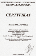 Renata Baranowska - certificates in allergology - polish doctors in Dublin - #6