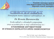 Renata Baranowska - certificates of polish doctors in Dublin - #1