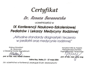 Renata Baranowska - certificates in pediatrics - polish doctors in Dublin - #13