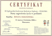 Renata Baranowska - certificates in pediatrics - polish doctors in Dublin - #14