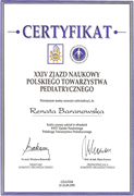 Renata Baranowska - certificates in pediatrics - polish doctors in Dublin - #4