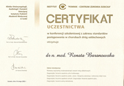 Renata Baranowska - certificates in pediatrics - polish doctors in Dublin - #6