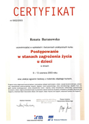 Renata Baranowska - certificates in pediatrics - polish doctors in Dublin - #8