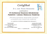 Renata Baranowska - certificates in pediatrics - polish doctors in Dublin - #9