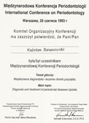 Kajetan Baranowski - certificates in dentistry - polish doctors in Dublin - #6